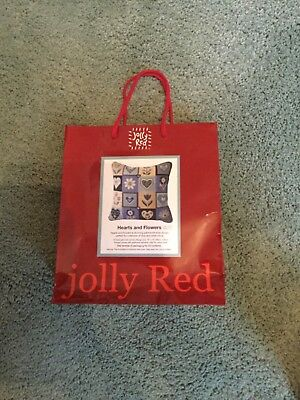 Jolly Red Hearts and Flowers tapestry kit - new and sealed