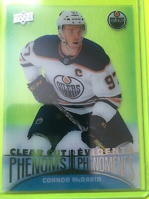 McDavid Clear Cut Phenoms 18-19 Tim Horton Hockey Card #CC-1