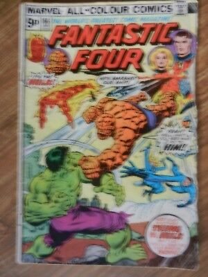 Fantastic Four  Vol 1 # 166 Complete, no writing but Lower Grade Condition