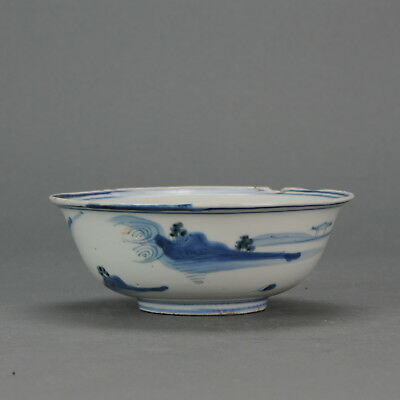Antique Chinese 17th C Porcelain Ming Tianqi Transitional China Bowl