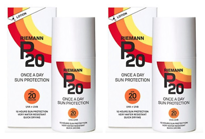 2 x Riemann P20, SPF20 Once A Day Sun Protection Lotion 100ml **FREE UK Delivery