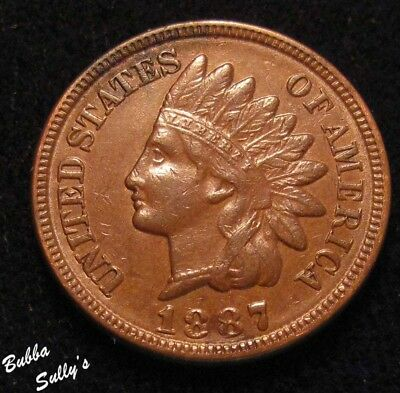 1887 Indian Head Cent <> Dark Spot <> EXTREMELY FINE