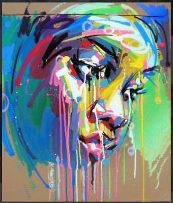 CHENPAT690 abstract color girl portrait hand painted oil painting art on canvas