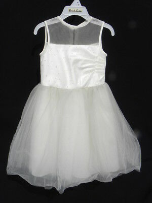 NWT Sarah Louise Girl's Elegant Champagne or Ivory Tulle & Lace Dress Sz. 2y
