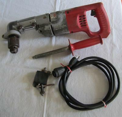 "Milwaukee 1/2"" Right Angle Varible Speed Reversible Drill 1107-1  0-500 RPM"