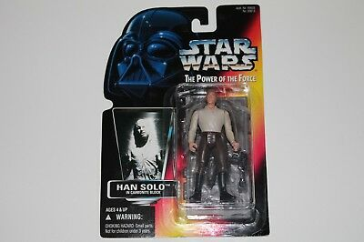 Star Wars Han Solo Carbonite Power of the Force POTF2 Figur Hasbro Kenner 1996