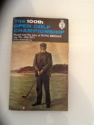 100th OPEN GOLF CHAMPIONSHIP programme July 7th-10th 1971 with two draw sheets.