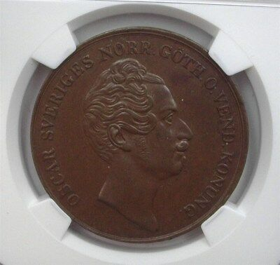 Sweden 1850 4 Skilling Ngc Ms63 Bn Km#672 Top Pop 1/0! 1 Of The Finest Known!