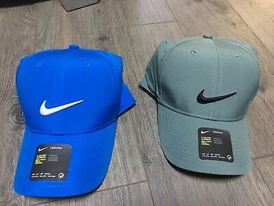 NIKE GOLF LEGACY91 Tech Hat Men s Golf Hat Unisex Blue   Grey Set Of ... 70891ccfaba