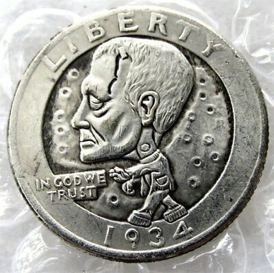 Frankenstein Coin, 1934, Novelty Joke Shop Coin