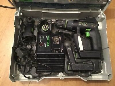 Festool CXS 10.8v Cordless Drill Driver 2 x 1.5Ah in Systainer 1
