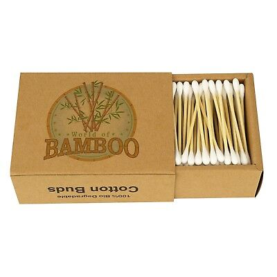 Bamboo Cotton Buds Wooden Paper Stem Eco Friendly Earbuds Organic Swabs