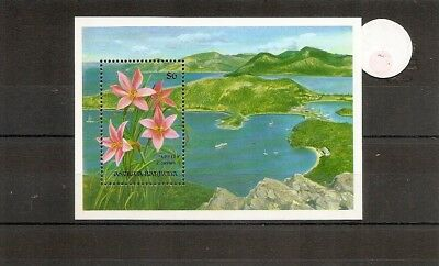 Antigua and Barbuda 1993 SG1741b ms Flowers-Fairy Lily-View of Harbour-Antigua