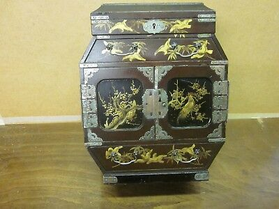 Antique Japanese Laquered Jewelery Cabinet