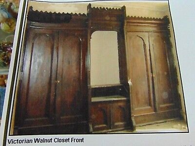 Antique Victorian Walnut Closet Front Built In Armoire - Architectural Salvage