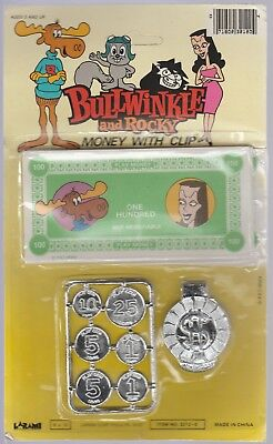 Vintage BULLWINKLE & ROCKY Money with Clip Original package