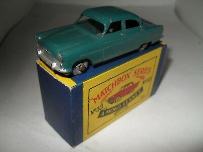 MATCHBOX LESNEY RW 1-75 No 33 FORD ZODIAC VN MINT IN NEAR EXCELLENT BOX