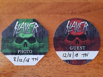 Slayer Authentic 2017 Guest & Photo sticky Backstage Pass