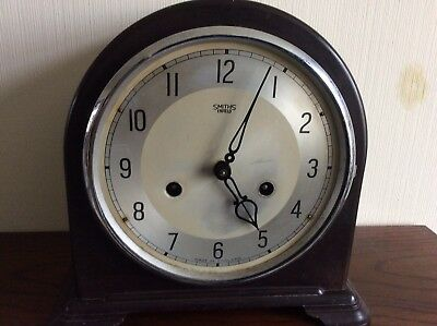 Vintage Smiths Enfield Bakelite Mantel Clock For Spares Or Repair