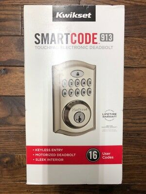 Kwikset SmartCode 913 Touchpad Electronic Deadbolt. (UD9001324)