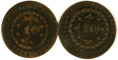 Brazil Counter Stamped Coins (2)