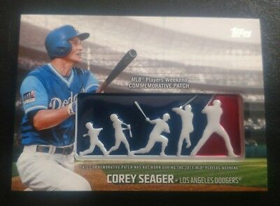 2018 Topps Corey Seager Players Weekend Logo Patch Card Los Angeles Dodgers