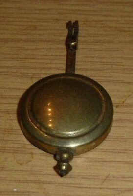 "Small mantel clock pendulum c1930 2 3/4"" long with 1 1/4"" bob"