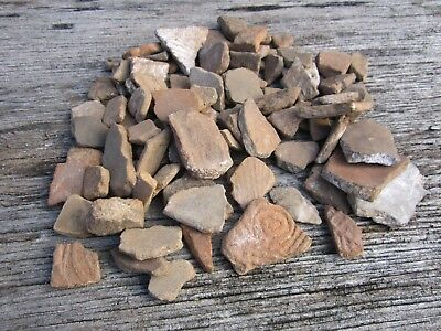 Vintage Old Group Lot of Pottery Fragments Artifacts from Central North Carolina