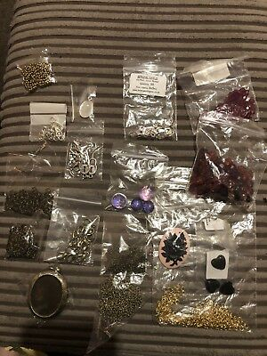 Mixed Lot Jewellery Making Items Findings Hobby