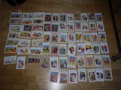 FAB COLLECTION OF 69 BRITISH DONALD McGILL HUMOUR 1930-1950c VINTAGE POSTCARDS