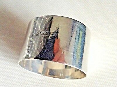 Antique Sterling Silver Napkin Ring by Birm Maker William Hutton & Sons Ltd 1911