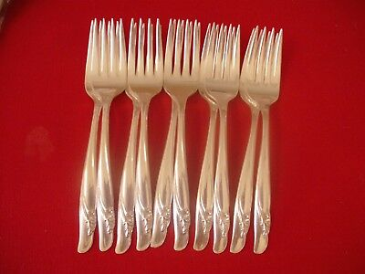 (10) Rogers IS Silverplate Salad Forks, 1957 Exquisite  #10