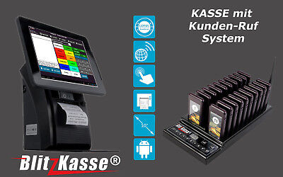 ALL-in-ONE  TOUCH KASSENSYSTEM BLITZKASSE KIOSK BEERSTÜBE +20 PAGER f KUNDEN RUF