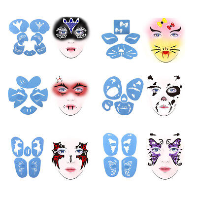 Reusable Plastic Face Painting Stencil Body Art Party Stage Make Up Template