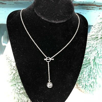 Silpada Sterling Silver Simple Delight Lariat Filigree Toggle Necklace  N1619
