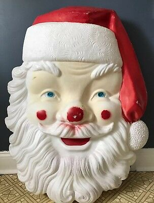 Blow Mold Christmas Yard Decorations.Vintage Empire 34 Santa Claus Face Head Blow Mold Christmas Yard Decoration