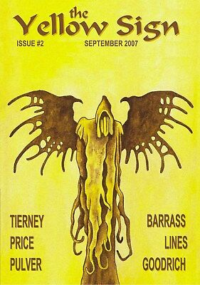 063YELLOW SIGN #2 Rainfall chapbook. King in Yellow/Lovecraft/Chambers/Cthulhu