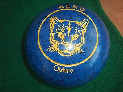 Aero OPTIMA Lawn Bowls Size 3H WB27 Plain Grip Blue/Black Speckle Great Motif