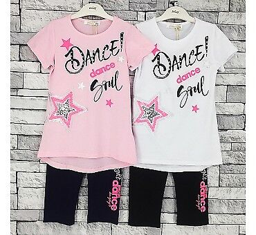 Summer Top T-shirt Legging Set Casual outfit Kids and Girls 4 years to 14 years