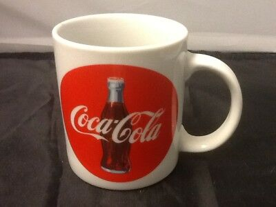 1992 COCA-COLA Coke Bullseye COFFEE CUP Mug Advertising Soda Beverages New