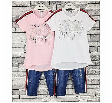Summer Top T-shirt Legging Set For Kids and Girls 4 years to 14 years