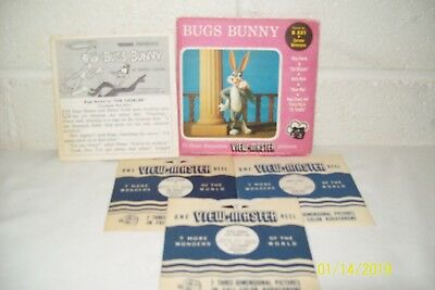 View Master Viewmaster Reels Set of 3 BUGS BUNNY 1959 Packet #B531 FREE SHIPPING