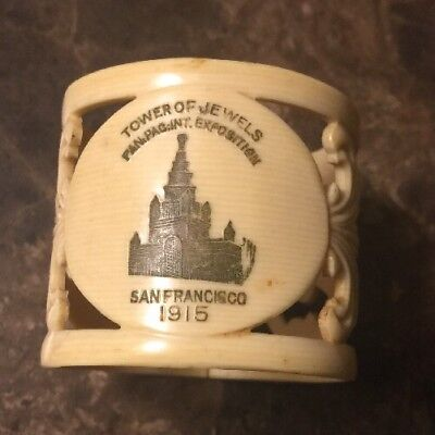 1915 Panama Pacific International Expo TOWER OF JEWELS Souvenir Napkin Ring