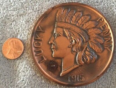 1915 Panama Pacific International Exposition Souvenir Indian Head LUCKY PENNY