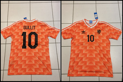 free shipping f83dd a726e HOLLAND NETHERLANDS 1988 shirt EURO 88 Football Jersey RUUD GULLIT RETRO  MEDIUM