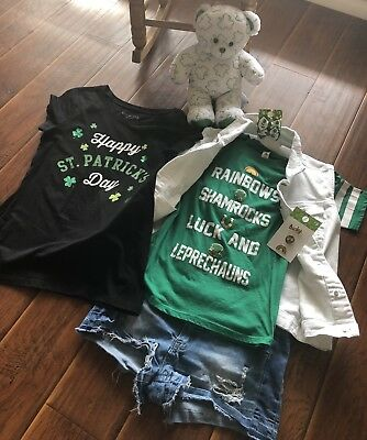 St. Patricks Day Outfit L/XL/13 10 Items!