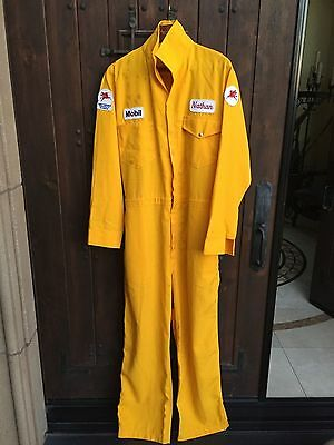 Mobile Oil Gas Station Vintage Yellow Jumpsuit