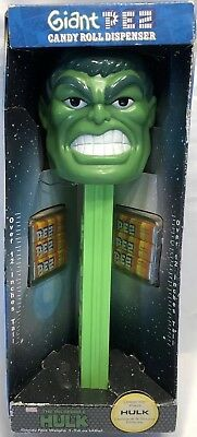 """Hulk Giant Pez Candy Roll Dispenser Marvel The Incredible Hulk Sound & Voice 12"""""""