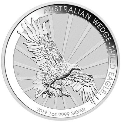 2019-P Australia 1 oz Silver Wedge-Tailed Eagle $1 Coin GEM BU Coins SKU56676