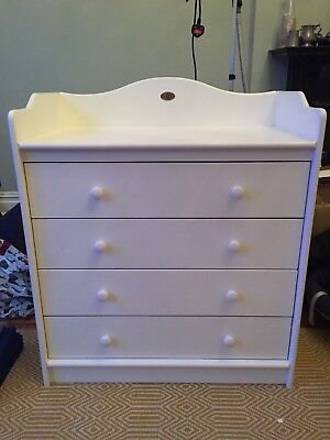 Boori White Chest of Drawers with Baby Changing station / table